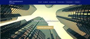 écran d'acceuil de la plateforme Cap Investment