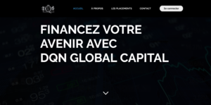 Page d'accueil DQN Global Capital