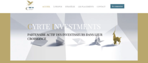 Page d'acceuil Cyrte Investment