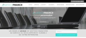 Site Internet frauduleux Arteko Finance